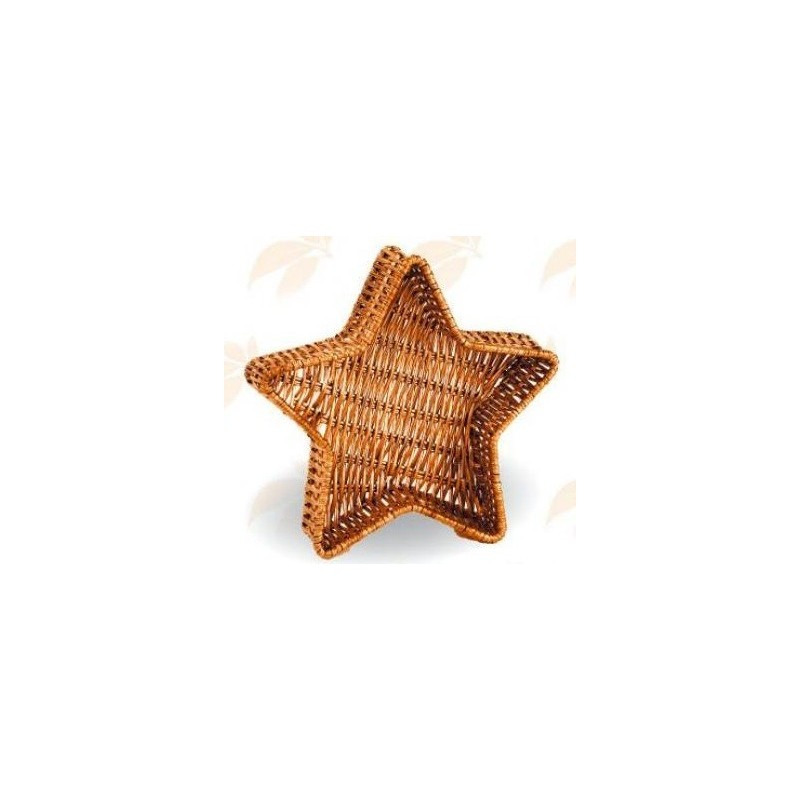 CORBEILLE -Etoile- fougère peinte dorée