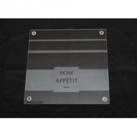 "TRIVET-Glass-""Bon Appetit"""