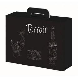 """COFFRET Carton -Noir- 34.5x26x11.5 """"Terroir"""""""