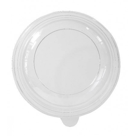 Lid PLATE ROUND HOLLOW PLASTIC -Black Ø 21,5 cm - PS - 70