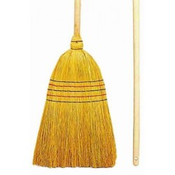 STRAW BROOM 5 SON -Pomme Americ- + wooden handle 142 cm