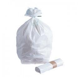 SAC POUBELLE -Blanc 10 µ 5 L- le rouleau 25 sacs