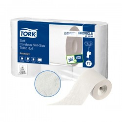 "TOILET PAPER ""TORK Mid-size"" 450 F -without mandrin- 6 rolls"