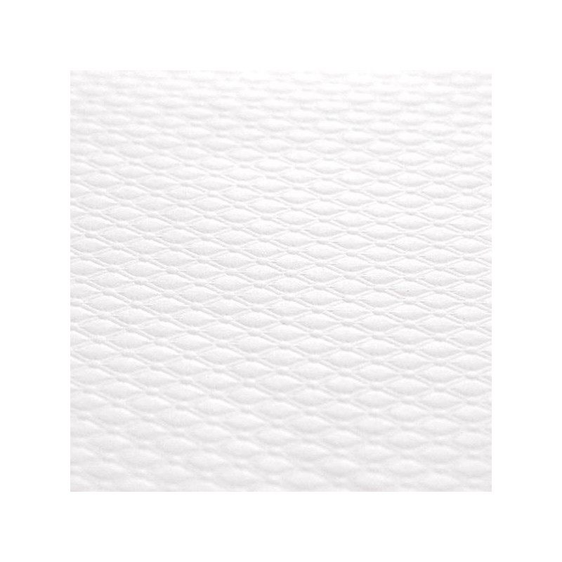 NAPPE en papier gaufré -70X70 - BLANC - les 500