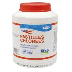 EAU DE JAVEL -150ppm de Chlore actif - 150 pastilles - Boîte 0.5 kg