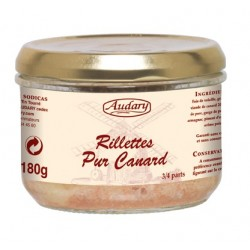 RILLETTES PUR CANARD -Audary- bocal 180 g