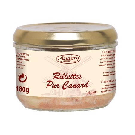 RILETTES PURE DUCK -Audary- 180 g jar