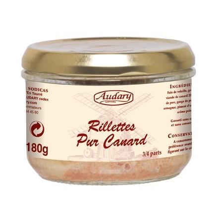 Rillettes PURO PATO -Audary- tarro de 180 g