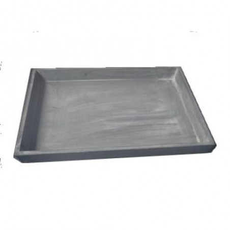 TRAY   Gray Wooden Rectangle