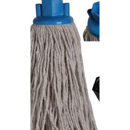 FRANGE COTON ESPAGNOL pour balai laveur - 220 g embout vis+hexagonal