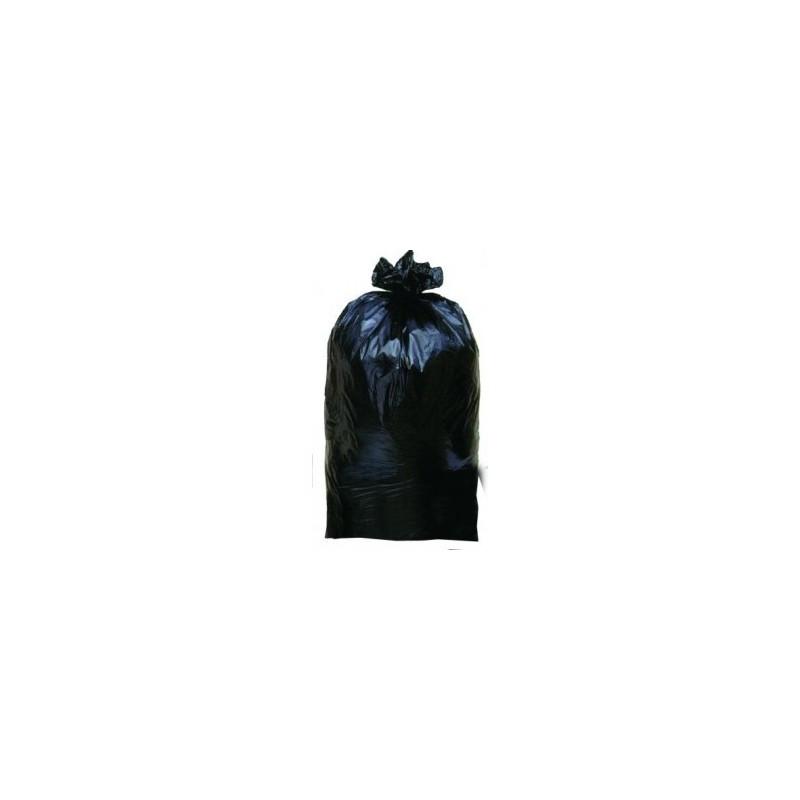 SAC POUBELLE 100 L Noir 35 µ tour 164 cm/ H 87cm - le rouleau 25 sacs