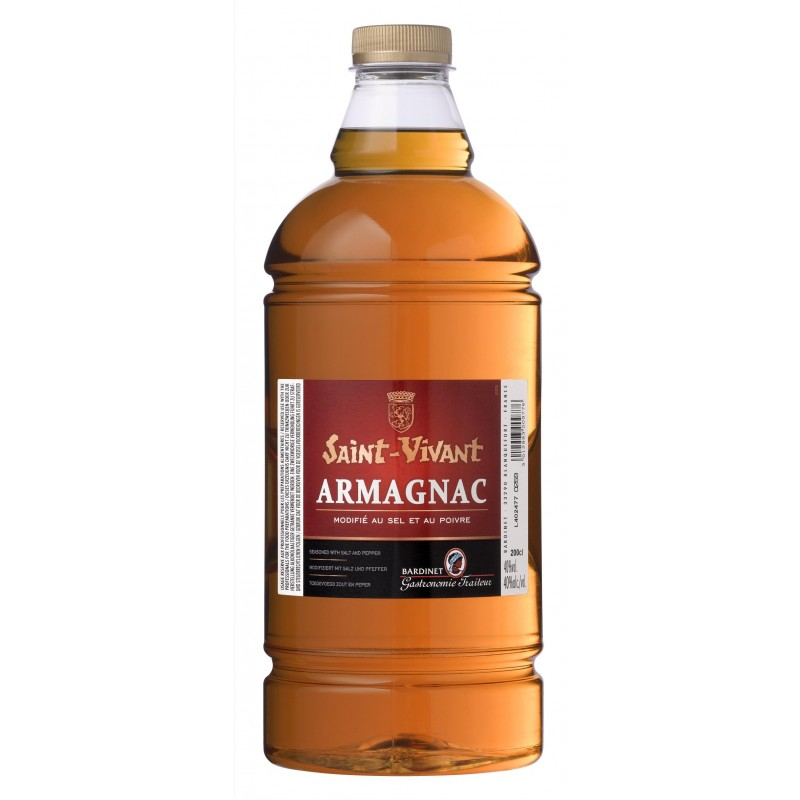ARMAGNAC modified with salt and pepper Saint-Vivant BARDINET 40 ° 2 L