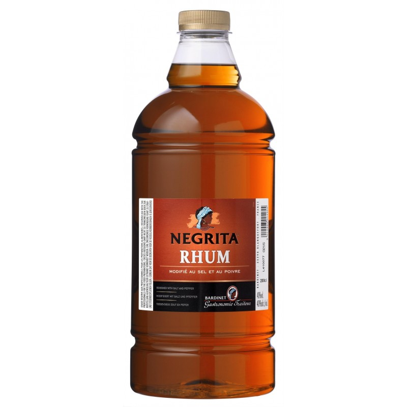RHUM BROWN modified with salt and pepper Negrita BARDINET 40 ° 2 L