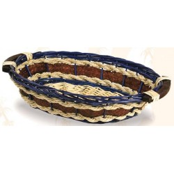 BASKET-Monique-Wicker / navy blue rope