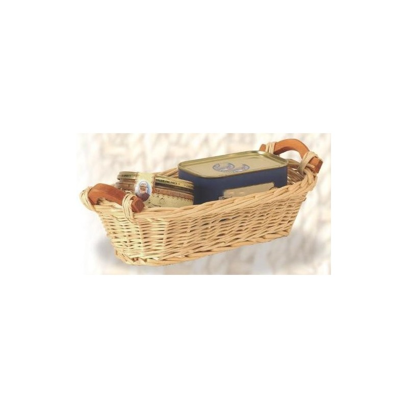 BASKET-Julien-Wicker / Wood Handles