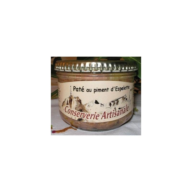 """PATE -Au piment d'Espelette- """"Terroir des Pyrénées"""" bocal 180 g"""