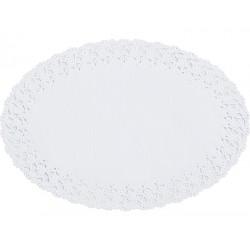 DENTELLES papier RONDES -Blanche 12 cm- le paquet de 250