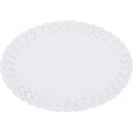 LACE carta ROUND - Bianco 12 cm, confezione da 250