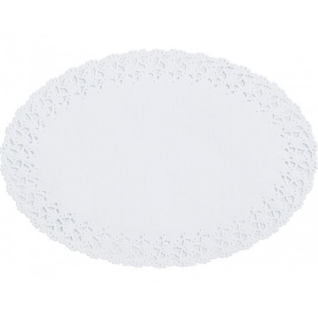 ROUND LACE paper - White 12 cm, package of 250