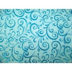 CHEMIN DE TABLE Tissu -largeur 0,30 m- TURQUOISE - le rouleau de 5 m