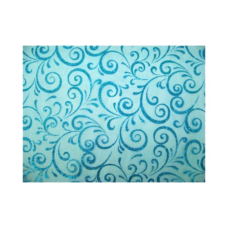 PATH tessuto larghezza 0,30 m-TURQUOISE TABLE - rotolo di 5 m