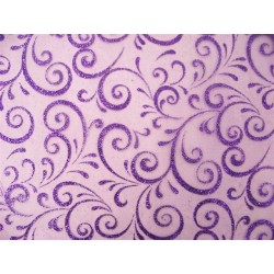 PATH Stoff Breite 0,30 m-VIOLET TABLE - 5 m Rolle