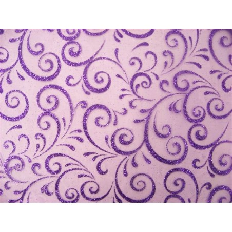PATH Fabric width 0.30 m-VIOLET TABLE - roll 5 m