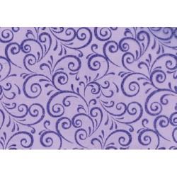 CHEMIN DE TABLE Tissu -largeur 0,30 m- VIOLET - le rouleau de 5 m