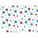 PATH Fabric width 0.30 m-GREEN PINK BLUE TABLE - roll 5 m