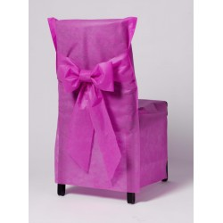 "HOUSSE CHAISE -jetable- ""Bricotex"" -FUSCHIA- les 6"