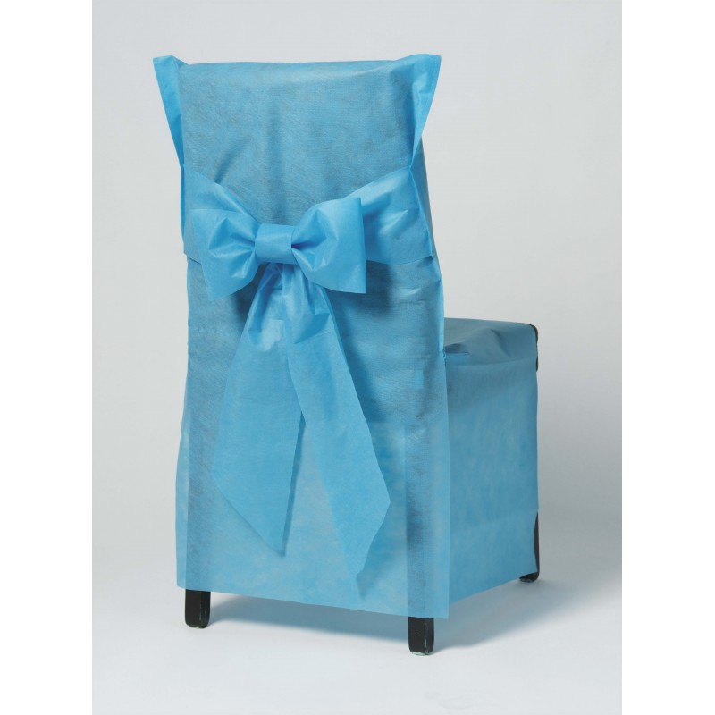 "CHAIR COVER - disposable - ""BRICOTEX"" - BLUE- 6"