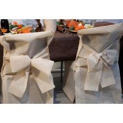 """CHAIR COVER - disposable -   """"BRICOTEX"""" - IVORY-   6"""