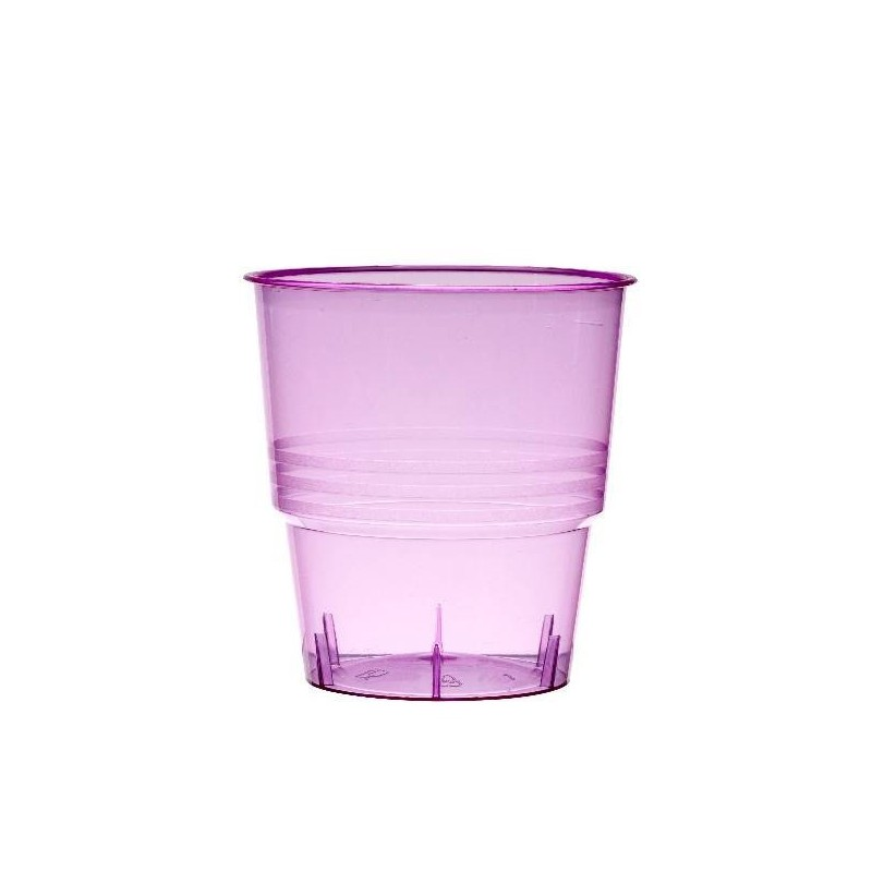 CRYSTAL GLASS INJECTED FUSHIA 25cl - 10