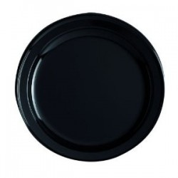 PLATE ROUND -Ø 18 cm - BLACK - The bag 12