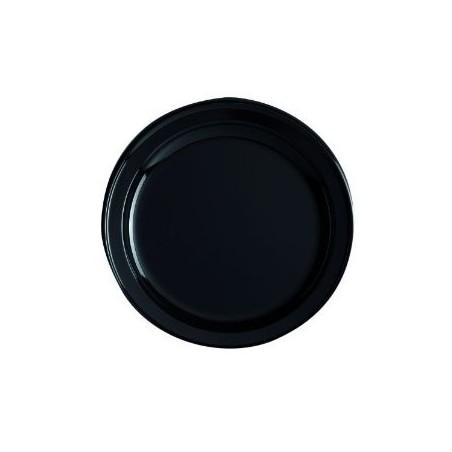 PLATE ROUND -Ø 18 cm - BLACK - The bag 12