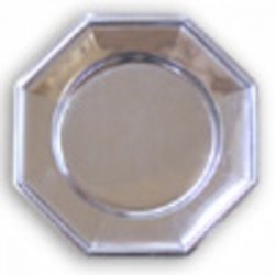PLATE OCTOGONAL ø 33 mm - SILVER - 3