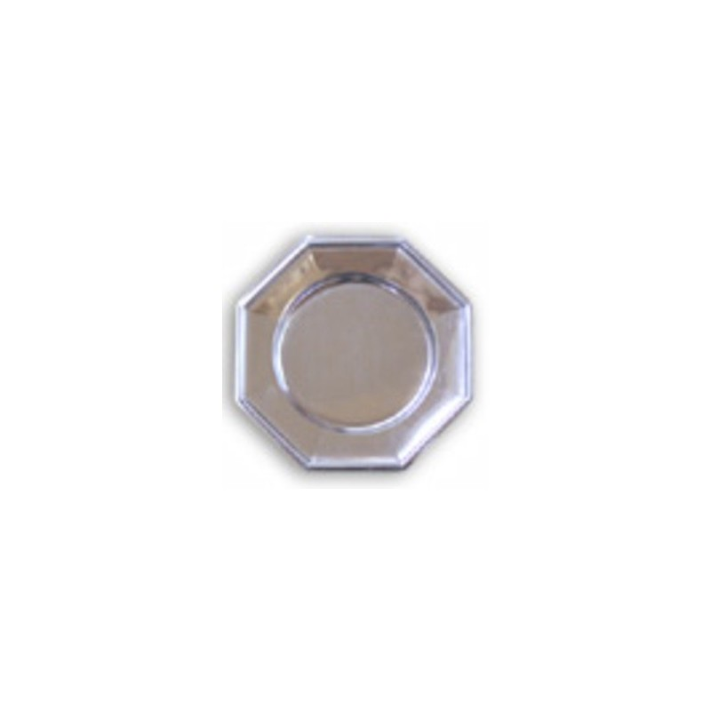 PLACA OCTOGONAL ø 33 mm - PLATA - 3