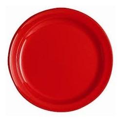 Piatto tondo -O 24 centimetri - RED - La borsa 12