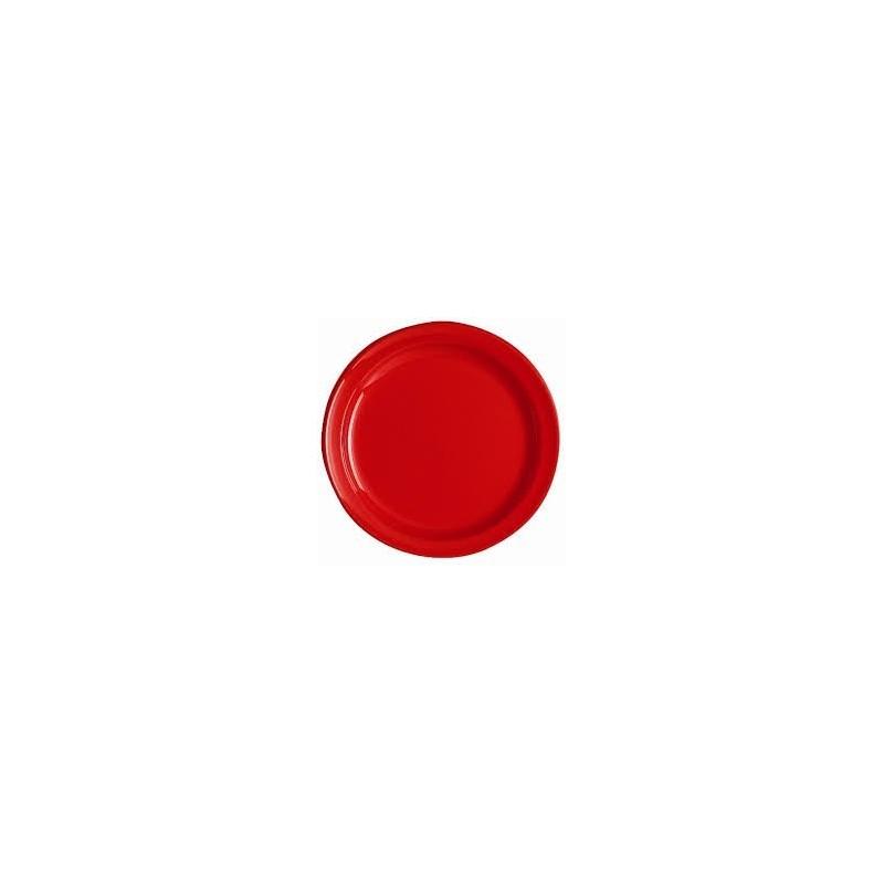 placa redonda -O 24 cm - ROJO - La bolsa 12