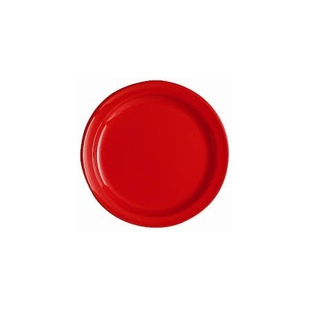 plate ROUND -Ø 24 cm - RED - The bag 12