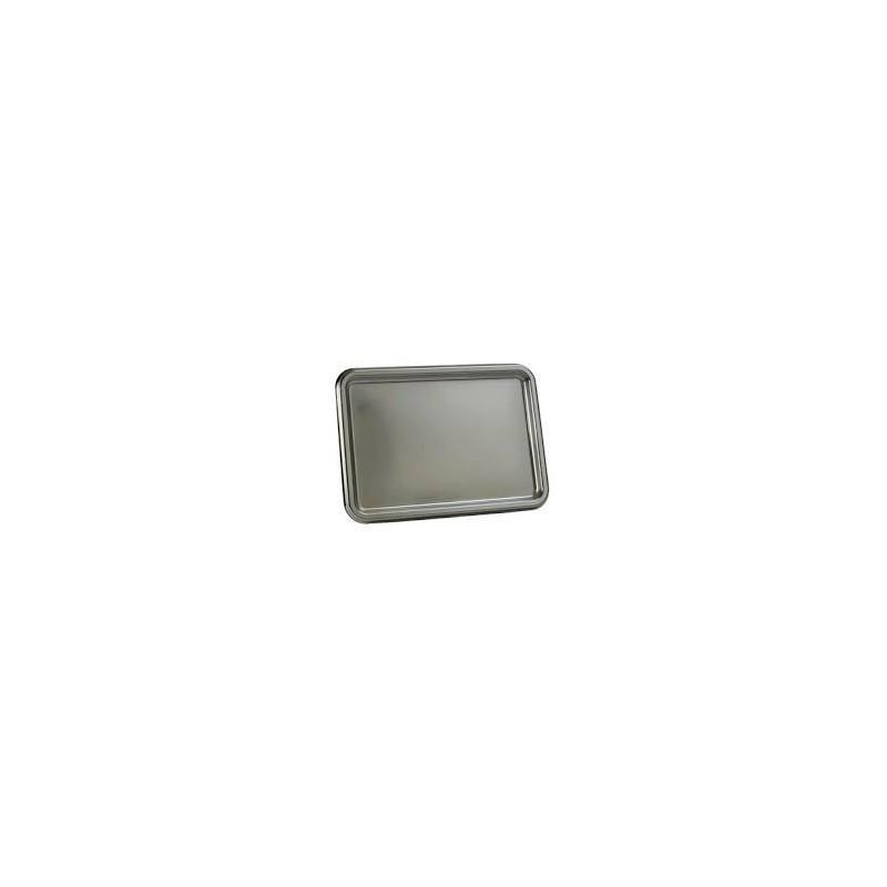 PLATEAU RECTANGLE 465 x 252 mm - ARGENT- les 3