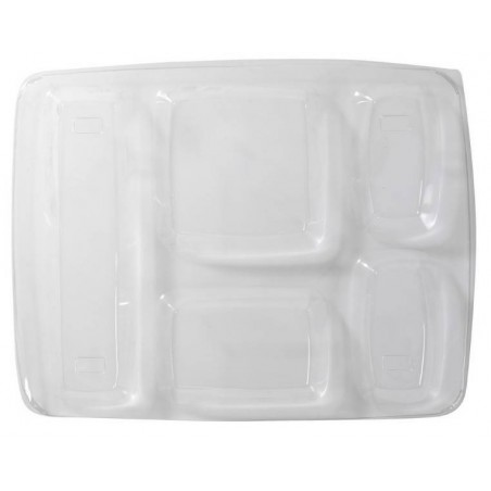 COVER PLATE TRANSPARENT FOOD -5 compartments-25