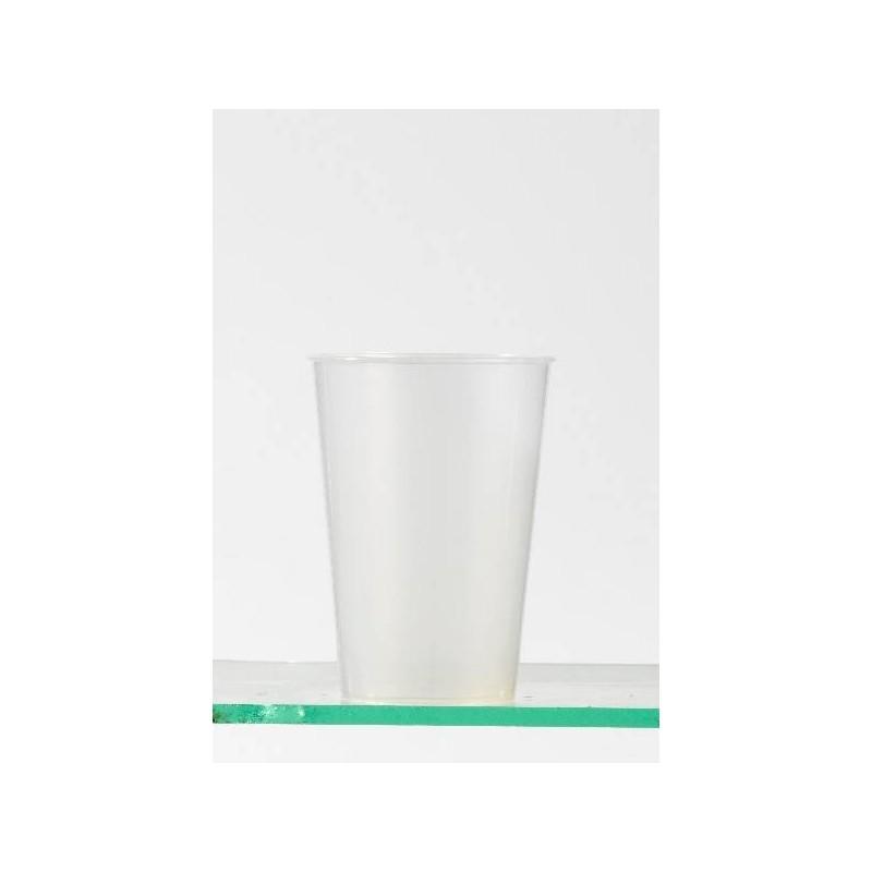 PLASTIC CUP reusable transparent neutral -30 cl-25