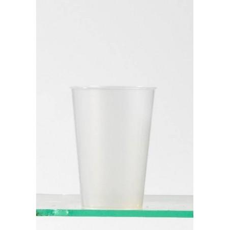 TAZA PLÁSTICA reutilizable transparente neutral -30 cl-25