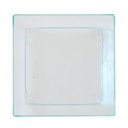 MIGNARDISES flat INJECTED CRYSTAL SQUARE - CLEAR - 6x6cm - 50