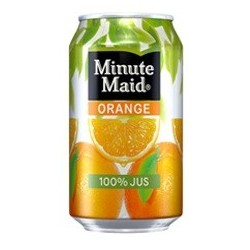 Minute Maid latas de metal de color naranja 33 cl