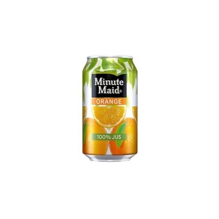 Minute Maid latas de metal de color naranja 33 cl