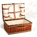 VALISE -Ernest- Gros Bambou / Tissu - 4 couverts