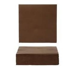 CHOCOLATE toalla de papel desechable 40 x 40 cm 2 espesores - la bolsa 50