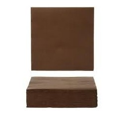 CHOCOLATE TOWEL in disposable paper 40 x 40 cm 2 layers - the bag of 50